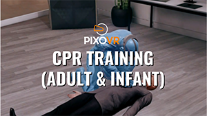 VR CPR training