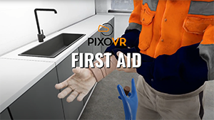 VR first aid training