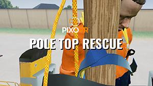 Vr. pole top rescue training