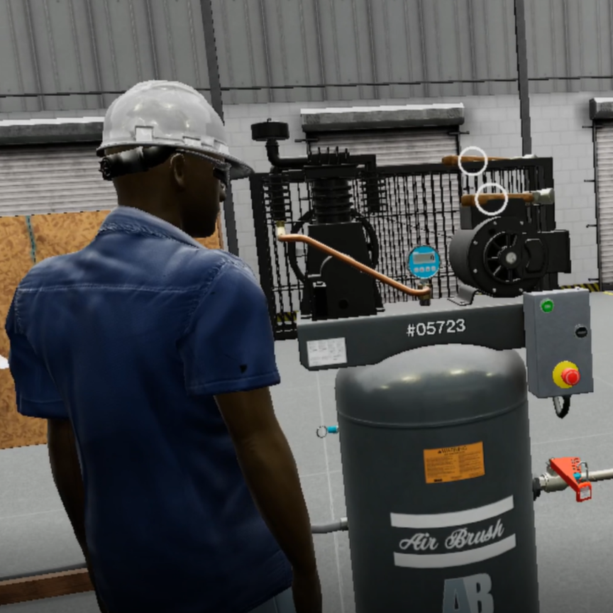 VR Lock Out Tagout training