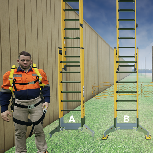Pole Top Rescue ladders in VR