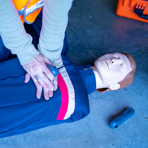 VR CPR Dummy used in training
