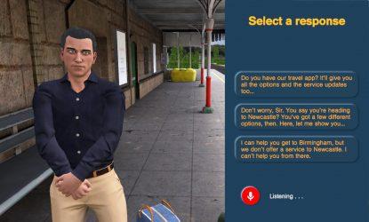 Man at station